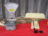 Antique And Vintage Weigh Scales + VINTAGE FAN + TOASTER