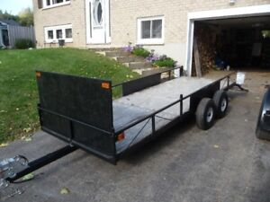 2 TRAILERS HEAVY DUTY TANDEM AND 4 FT X 12 FT RAMP