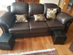 3 sofa set - vegan leather