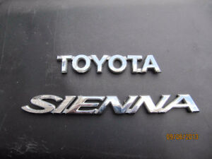 "Rear Tail Gate Trunk Emblem of ""Toyota Sienna"" - 15$"