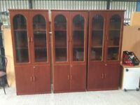 Rosewood office or home display cabinet