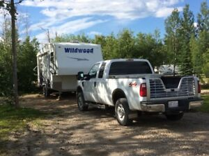 Ford F250 Super Cab & Wildwood Trailer