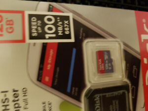 128GB SanDisk Micro SD card. Brand new in package! Not used.