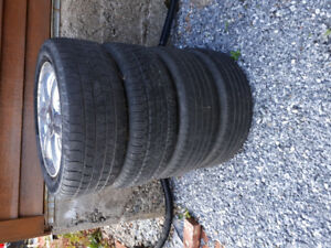 P205/55/R16 Tires on Rims 5x100mm off Chrysler PT Cruiser