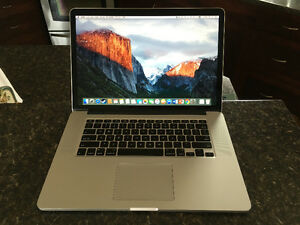 MacBook 15in - Retina - 2.5gh i7 - 512gb - Graphics - Latest