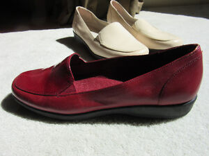 Easy Spirit Flats - Red and Cream pair