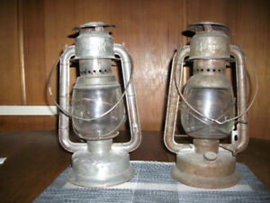 AUTHENTIC VINTAGE COAL OIL LANTERNS, EARLY 1900'S