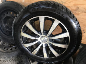 215/55R16 GENERAL ALTIMAX 9/32 MAGS HIVER 5X120 5X112
