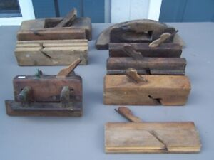 WOODEN WOOD PLANE HAND TOOLS - WOOD CLAMPS  - ADZE