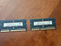 Laptop Memory 2-4gig PC3 memory cards