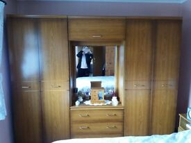 Double wardrobe with built in dressing table