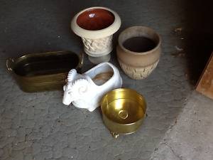 BRASS PLANT CONTAINERS