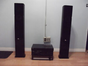 Pure Acoustics Tower Speakers and Vintage Components