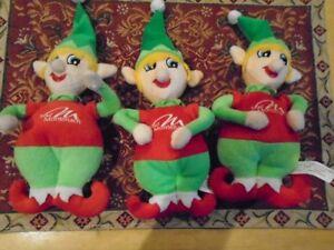 3 lutins en peluche  de Noel