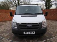 FORD TRANSIT 350 DOUBLE CAB 1 WAY TIPPER LWB 115 BHP ONE STOP CAGE 6 SEATS