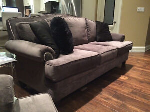 New 3 Piece Studded High Back Custom Grey Couch Set London Ontario image 8