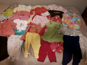 Lot of 6-12 month size girls clothes