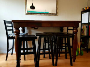 Table haute Extensible  - Pub Dinning Table Extendable