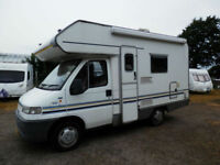 Swift Sundance 520 4 berth over head cab bed motor home for sale.