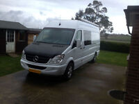 Mercedes Sprinter 311 Race Van LWB, 2007, Sleeps 3, Large Garage.Only £17,995