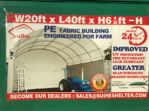 Heavy Duty 20x40 Dome Seacan Container Storage Shelter