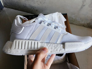 Adidas NMD Runner R1 Nomad Triple White Mesh US 7.5