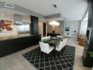 Luxury downtown Montreal 3 bedroom condo for sale