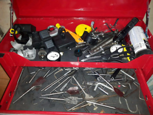 Variety of tools comes with tool box