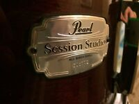 Pearl snare drum with stand!