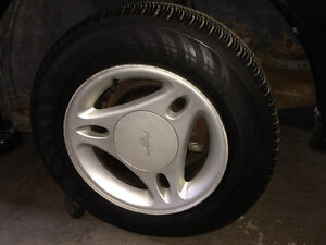 15INCH PONY RIMS AND CONTINENTAL TIRE SET