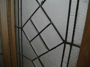 Beveled leaded glass windows