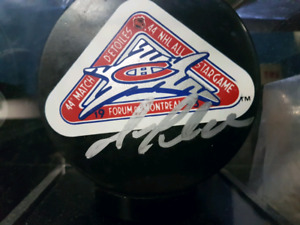 MARIO LEMIUEX SIGNED 93 ALL-STAR GAME PUCK