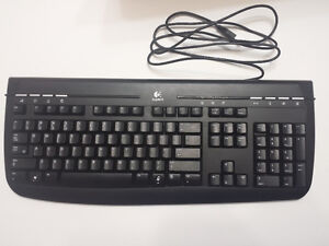 Logitech Keyboard with USB cable, Black