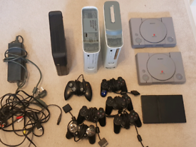 Joblot Spare/Repairs - 3x Xbox360, 2 PS1, 1 PS2