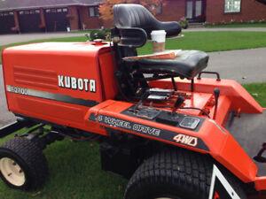 Kubota F 2100 diesel 4x 4 mower 60 inch deck