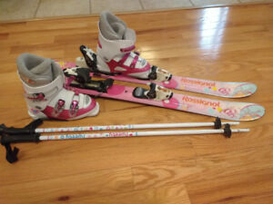 Girl's Rossignol Downhill Ski Package