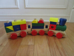 Train et blocs en bois Melissa and Doug