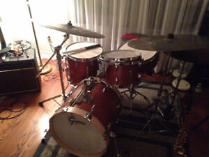 Gretsch Brooklyn USA 4 piece Drumset with 3 cases - Shellpack