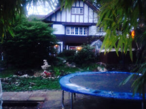 North Van Beautiful Revived English Tudor Home huge private lot