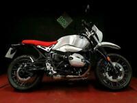 BMW R NINE T URBAN GS SPORT. 1688 MILES. 17. ALI TANK. TC. ABS. H GRIPS