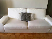 IKEA WHITE KIVIK SOFA- MINT CONDITION