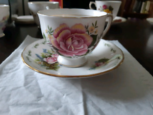 Colclough Bone China Tea Cup and Saucer Made in England