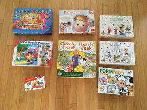 Lot de Jouets - jeux de société pour 2-3 ans