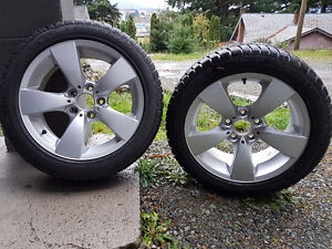 """BMW 17"""" OEM rims with Winter Tyres"""