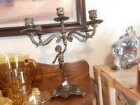 Two Different Brass Candelabras at KeepSakes Antiques