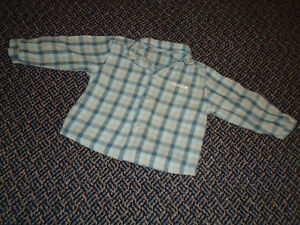 Boys Size 12 Months Long Sleeve Plaid Flannel Dress Shirt