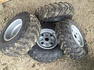 CAN AM TAKE OFF WHEEL TIRE AND ALUMINUM RIM