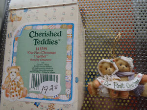 """""""Cherished Teddies"""" First Christmas Together Ornament"""