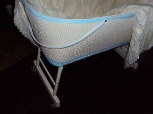 Wicker baby bassinet/ portable laundry basket/front porch flower