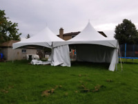 Tents, chairs and tables